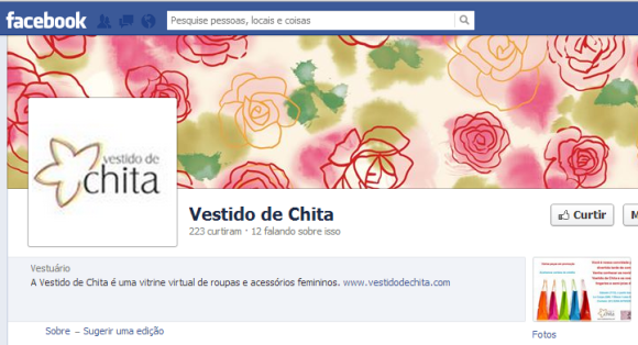 Curta a Vestido de Chita no Facebook e fique por dentro das novidades